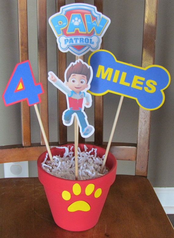 Hey, I found this really awesome Etsy listing at https://www.etsy.com/listing/210941281/paw-patrol-party-centerpiece
