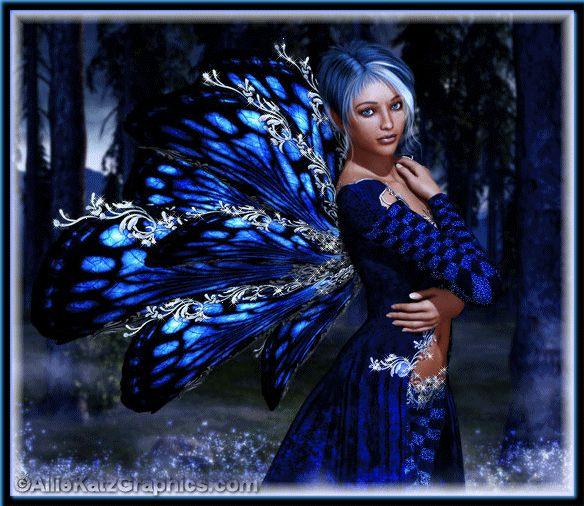 Fairy: Fantasy Faeries, Blue Fairies, Things Magic, Blue Faeries, Fantasy Art, Mythical Things, Midnight Blue, Fairies Tales, Mermaids Fairies
