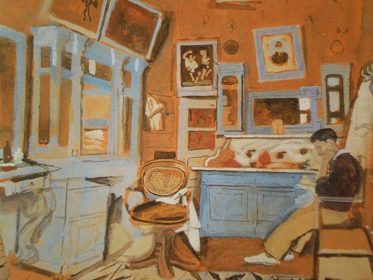 Yannis Tsarouchis (Greek, 1910-1989), 'Barber Maroussi', 1947