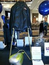 Silent auction item - Harley Davidson leather jacket and custom painted gas tank 5/04/13