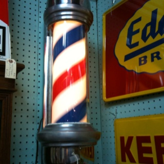 I'm sure this is one of the last few barbershop lights that's still working this well and looking this great. $559.00