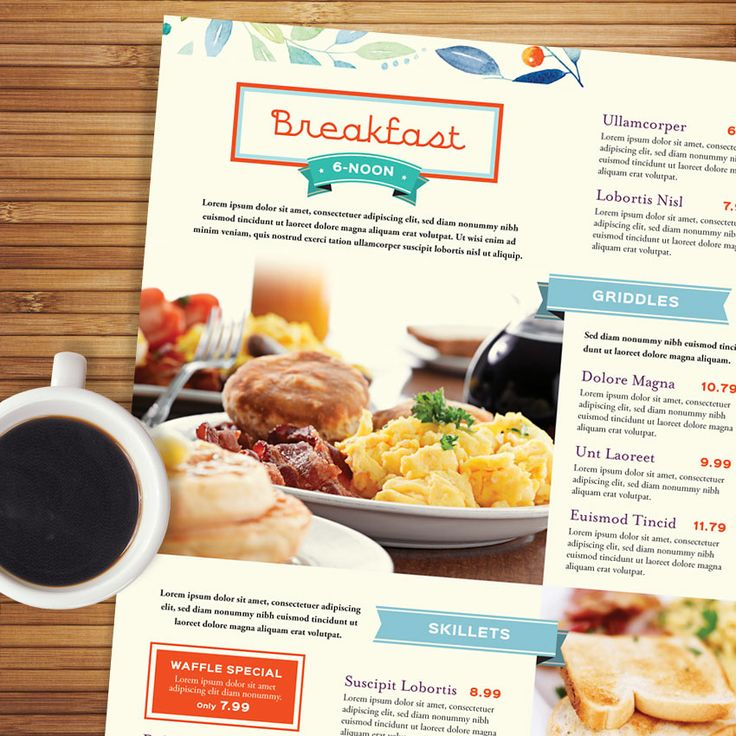 Best Menu Templates Images On   Menu Templates