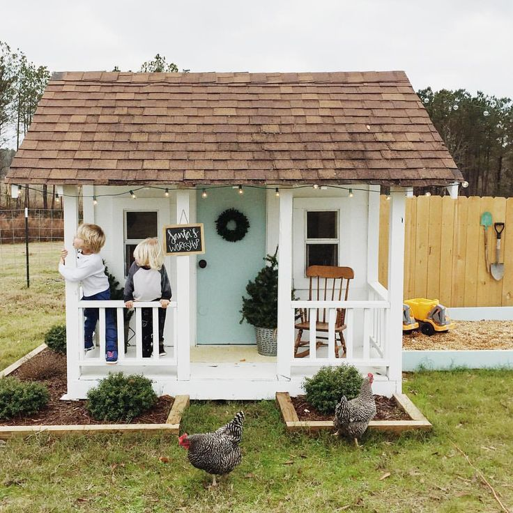 25 best ideas about kids outdoor playhouses on pinterest How to build outdoor playhouse