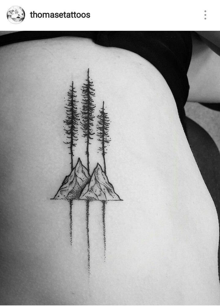 Trees and Mountains Tattoo