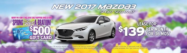 Lease a Mazda3 for $139 a month at Russ Darrow Mazda!