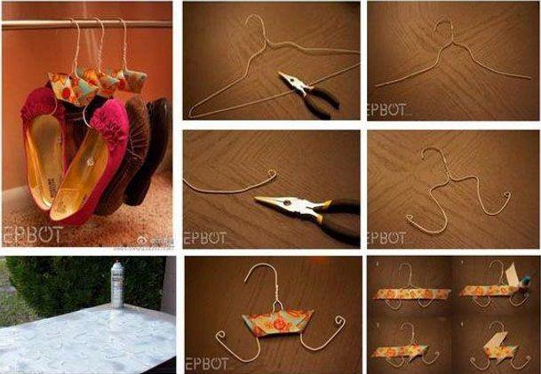 arredamento creativo stampelle porta scarpe