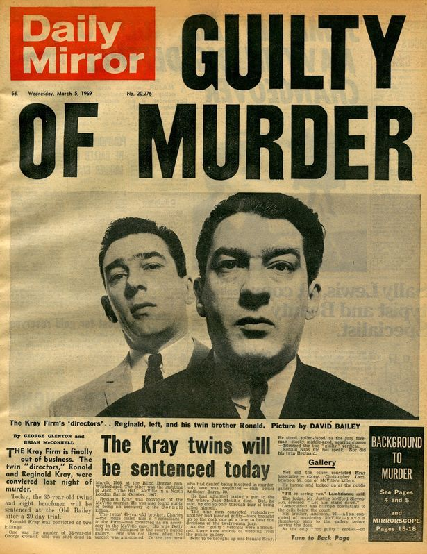 March 5th, 1969.  Daily Mirror announces the pair GUILTY OF MURDER.