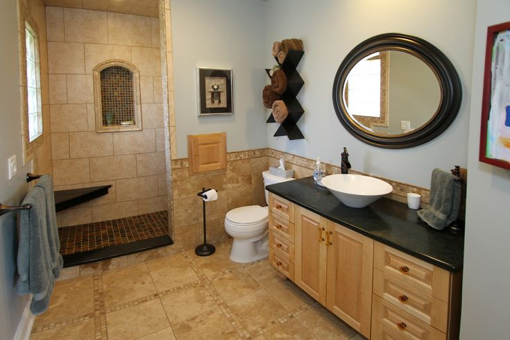 Bathroom With Open Shower By Unique Remodeling Concepts Of