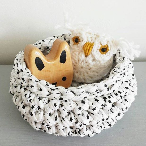 Some of these little crochet bowls are in @littlemaldod's shop, or if you'd like a custom colour get in contact! #home #homestorage #toystorage #homeideas #playroom #storagebaskets