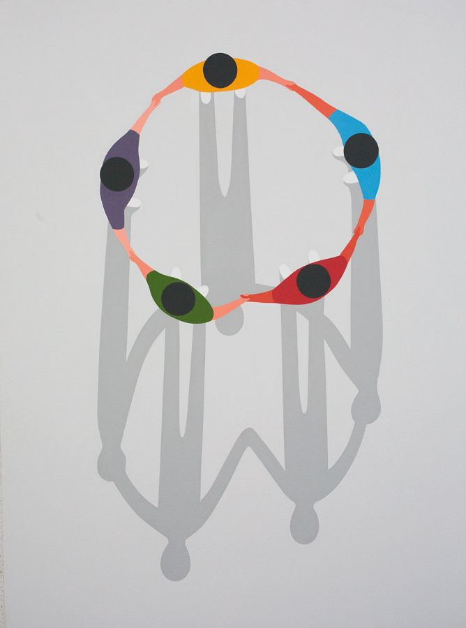 great example of the artful simplicity of Geoff McFetridge (from show at Cooper Cole)