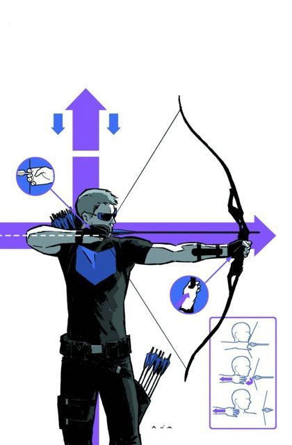 """Hawkeye shows us how to properly release the string of a recurve bow, along with what protective equipment to wear. His bow appears to be a 60"""" one-piece recurve in this silhouette."""