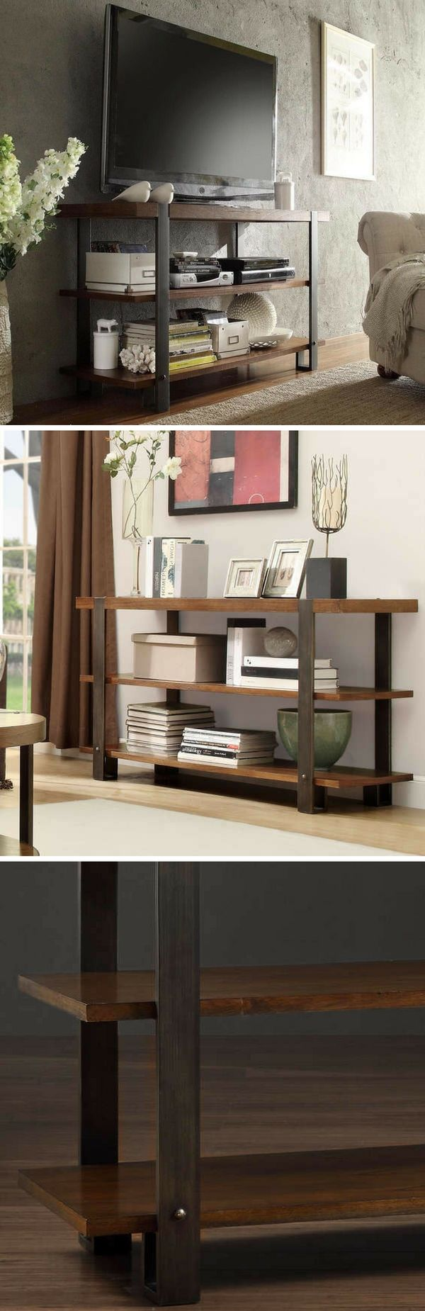 Check out the Lawson Brass & Reclaimed Wood TV Stand @istandarddesign