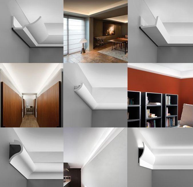 Lichtleisten in wunderschönen modernen und organischen Formen - tolle Gestaltungsmöglichkeit! http://www.malerische-wohnideen.de/blog/indirekte-beleuchtung-als-wohn-gestaltung-wundervolle-lichteffekte-wunderbare-wohnatmosphaere.html