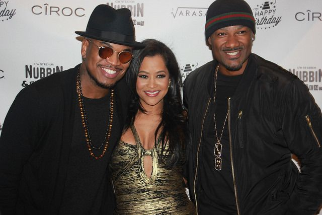 Ne-Yo and Big Tigger, at Lisa Wu birthday bash.