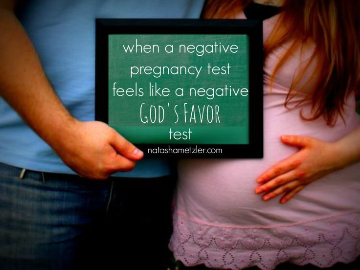 for when a negative pregnancy test feels like a negative God's favor test