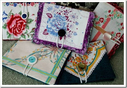 Hanky craft. make old fashion photo albums or brag books