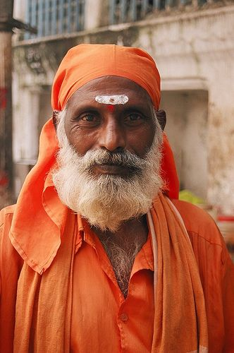 Sadhu (Hindu holy man), Varanasi, India