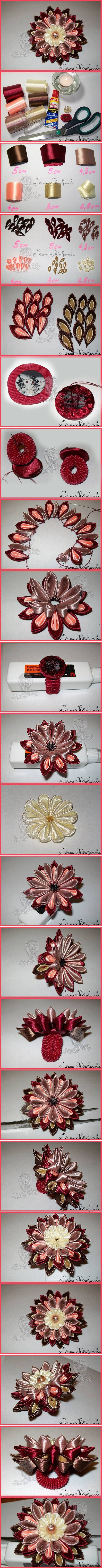 52 best ribbon flowers images on Pinterest