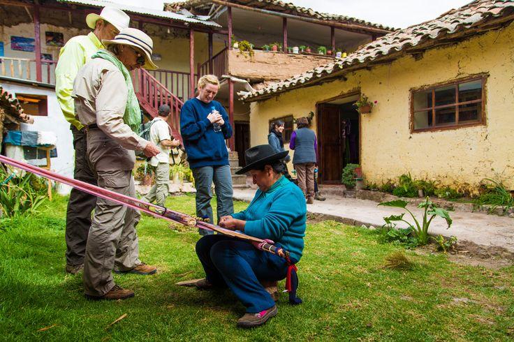Weaving demonstration at Tarawasi Inca Ruins @experiencemlp