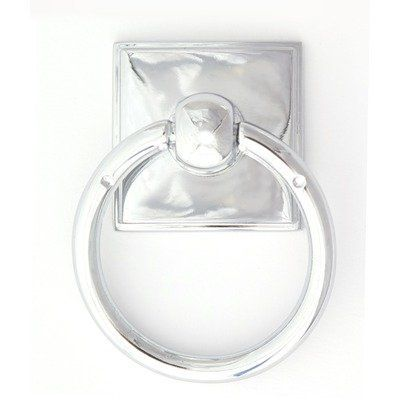 Alno, Inc. Eclectic Polished Chrome Ring Pull by Alno. $4.00. A580-PC Finish: Polished Chrome Construction: -Zinc alloy construction. Dimensions: -Overall Dimensions: 0.63'' H x 1.88'' W x 1.38'' D. Collection: -Eclectic collection.