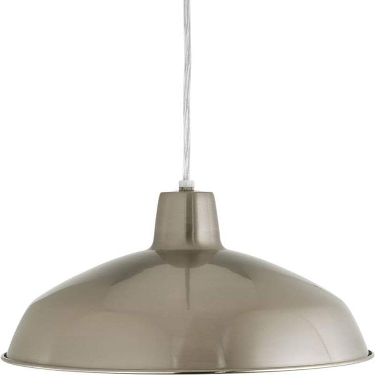 "View the Progress Lighting P5094 Warehouse 1 Light Warehouse Pendant with Spun Metal Shade - 16"" Wide at LightingDirect.com."