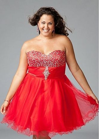 Plus size red homecoming dresses