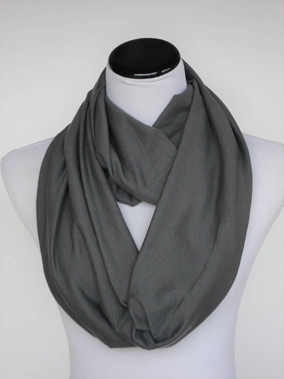 a98e6667d Gray scarf, grey infinity scarf, dark gray loop scarf charcoal gray scarf,  solid gray infinity scarf circle scarf soft jersey knit scarf