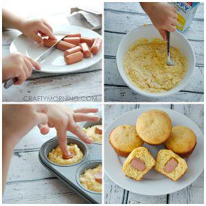 Easy Jiffy Corn Dog Muffin Recipe for Kids