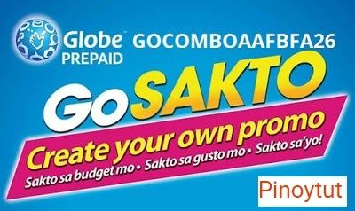 GOCOMBOAAFBFA26 the least expensive boundless web promo with extra call and content from Globe's GoSakto. This promo incorporates boundless web surfing (Globe FUP applies encounter moderate speed after achieving 800MB of download) 10 minutes calls and 50 writings to Globe/TM/Cherry Prepaid/ABS-CBN Mobile and 10mb access to Facebook for just 26 Pesos legitimate for 1 day. This promo best suits supporters who are on a super tight spending plan and needing web network for one entire day…