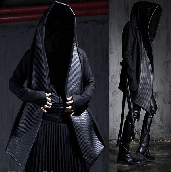 Cheap 2016 Nueva Moda Para Hombre Vestido de Invierno Gabardinas Gótico Harajuku…