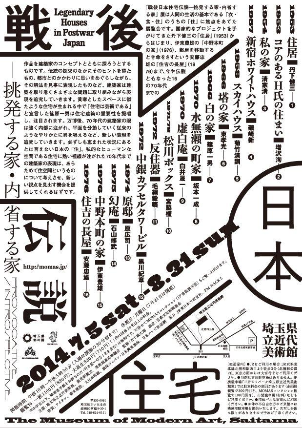 Legendary Houses in Postwar Japan-Provocative/Introspective (The Museum of Modern Art, Saitama)
