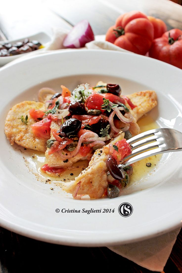 Petto di pollo fritto con farina di mais e condimento a crudo alla mediterranea –