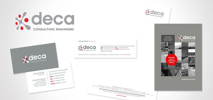 Logo and Corporate Identity design for Deca Engineers by AdamsRib