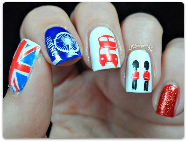 MoYou London plate Tourist collection 01 plate stamped nail art