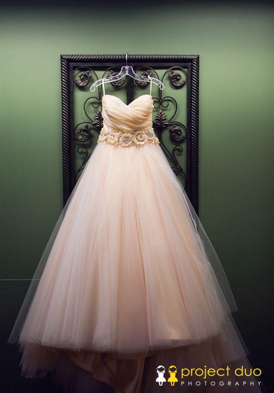 blush strapless sweat heart wedding dress 546Magnolia Hall Wedding - Piedmont Park Wedding - Project Duo Photography