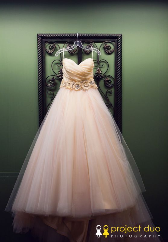 blush strapless sweat heart wedding dress  546Magnolia Hall Wedding - Piedmont Park Wedding - Project Duo Photography