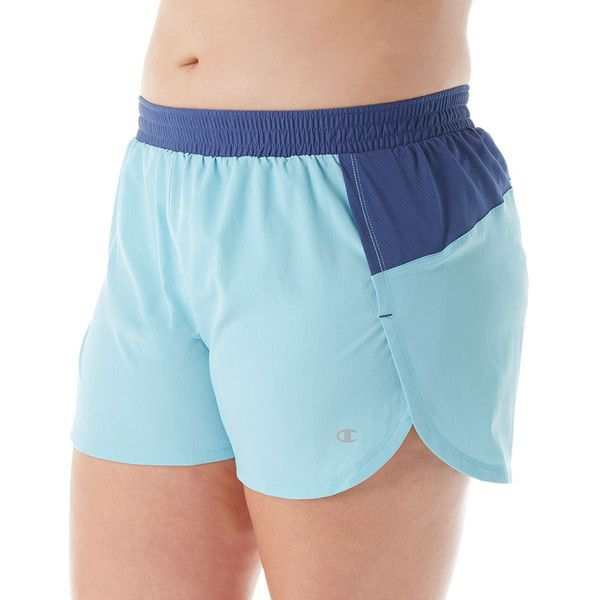 Champion QM0984 Vapor Plus Size Sport Short 5 ($20) ❤ liked on Polyvore featuring plus size women's fashion, plus size clothing, plus size activewear, plus size activewear shorts, sports activewear, plus size sportswear and logo sportswear