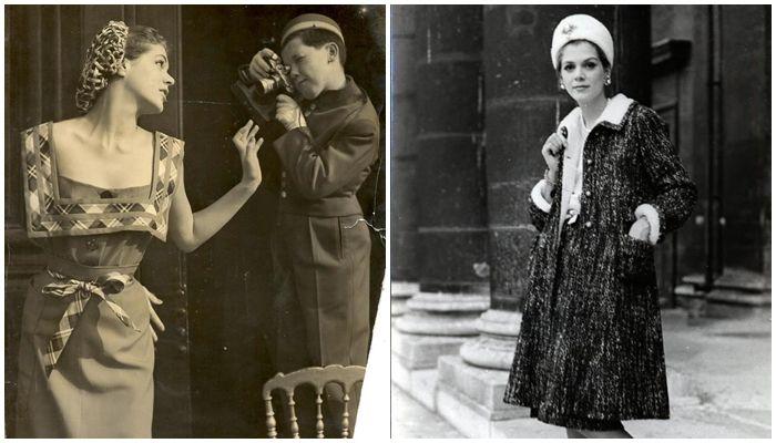 À esquerda, Vera Valdez para Schiaparelli (1952)