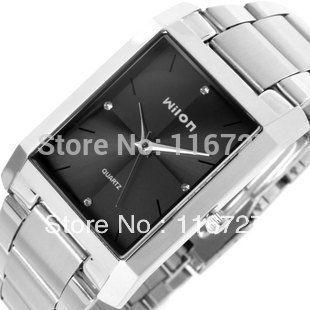 100% Original good quality Genuine Wilon fashion quartz business men's watches diamond square dial casual female wristwatches