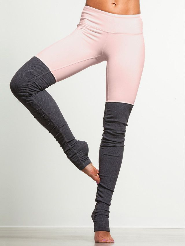 Goddess Ribbed Legging by ALO YOGA - BOTTOMS & LEGGING