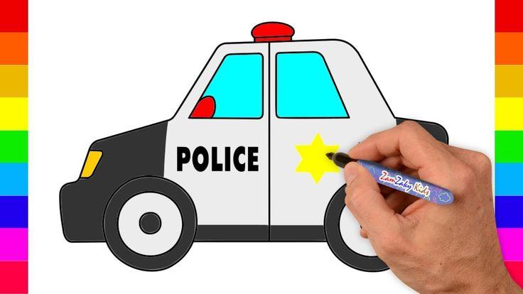 New Video By Zamzaky Kids On Youtube Mobil Polisi Cara Menggambar Untuk Anak Anak