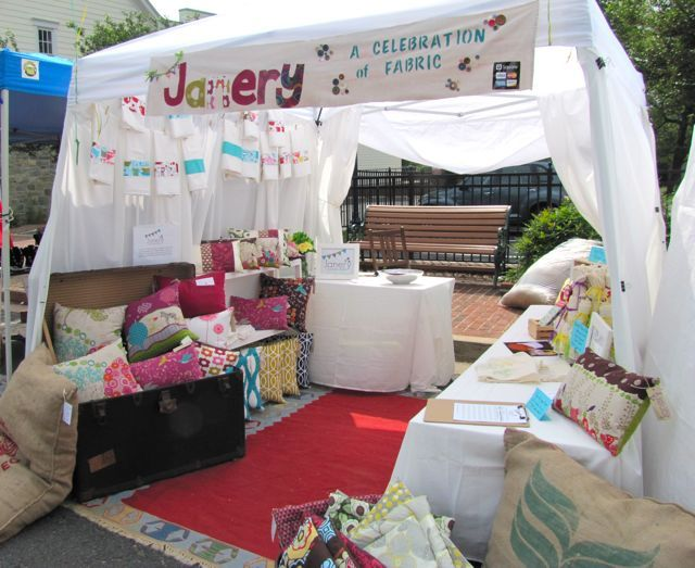 Adorable craft show setup