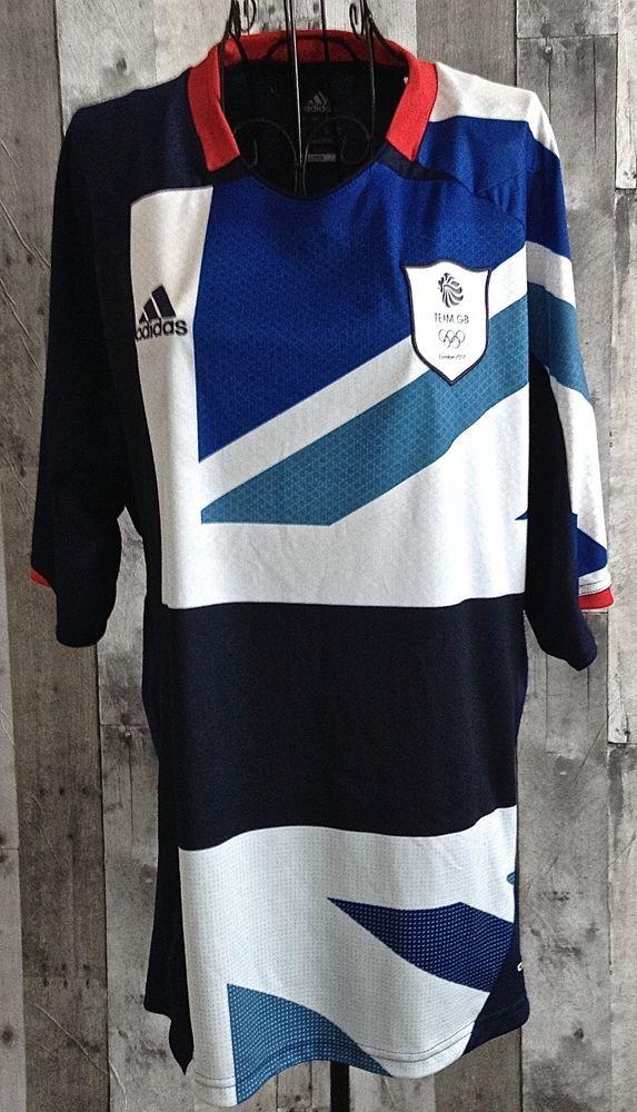 adidas Climacool Team GB 2012 Olympic Soccer Futbol Jersey Shirt Fifa Mens Large…