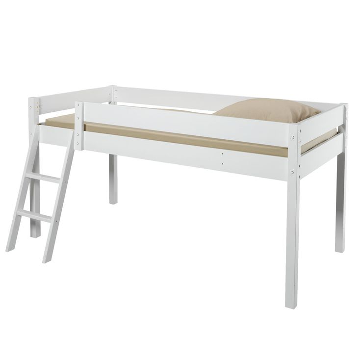 Lit mi-haut Blanc - Snow - Les lits mi-hauts - Lits - Lits et matelas - Décoration d'intérieur - Alinéa