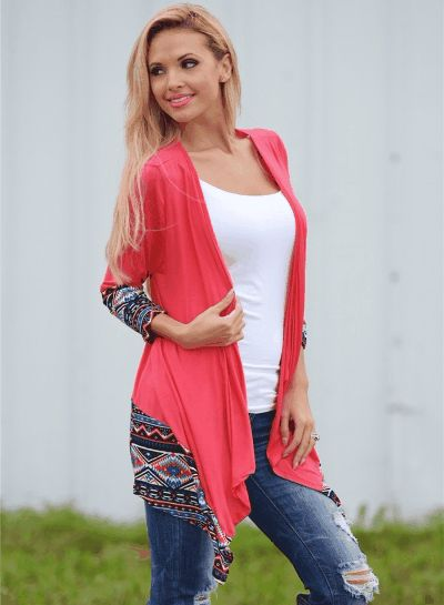 Long Sleeve Open front Patchwork Irregular Cardigan Clothing Dresses Tops & Tees Sweaters Fashion Hoodies & Sweatshirts Jeans Pants Skirts Shorts Leggings Active Swimsuits & Cover Ups Lingerie, Sleep & Lounge Jumpsuits, Rompers & Overalls Coats, Jackets & Vests Suiting & Blazers Socks & Hosiery