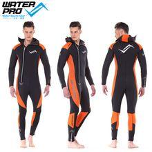 Water Pro Orange Hooded Wetsuit 5mm Unisex Ultrastretch High Quality Neoprene Water Sports Snorkeling Scuba Diving Wholesale