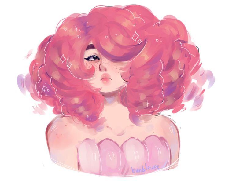 Rose com cabelo curto