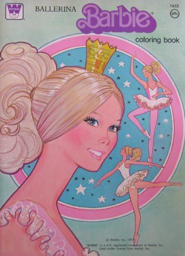 Ballerina BARBIE Coloring Book 1977 By Whitman 4899