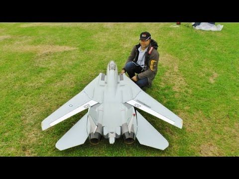 ③ LARGE SCALE RC FLYEAGLE SWINGWING GRUMMAN F14 TOMCAT TWIN TURBINES WESTON PARK MODEL SHOW - 2016 - YouTube