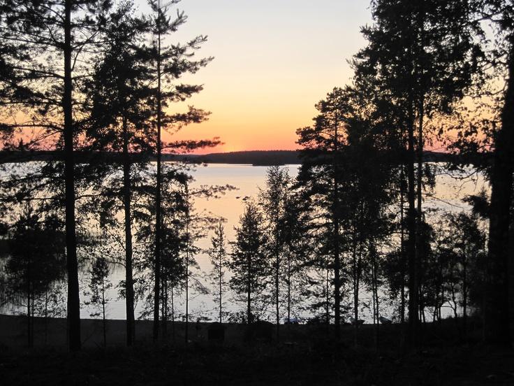 Sunset at Luumäki, Finland